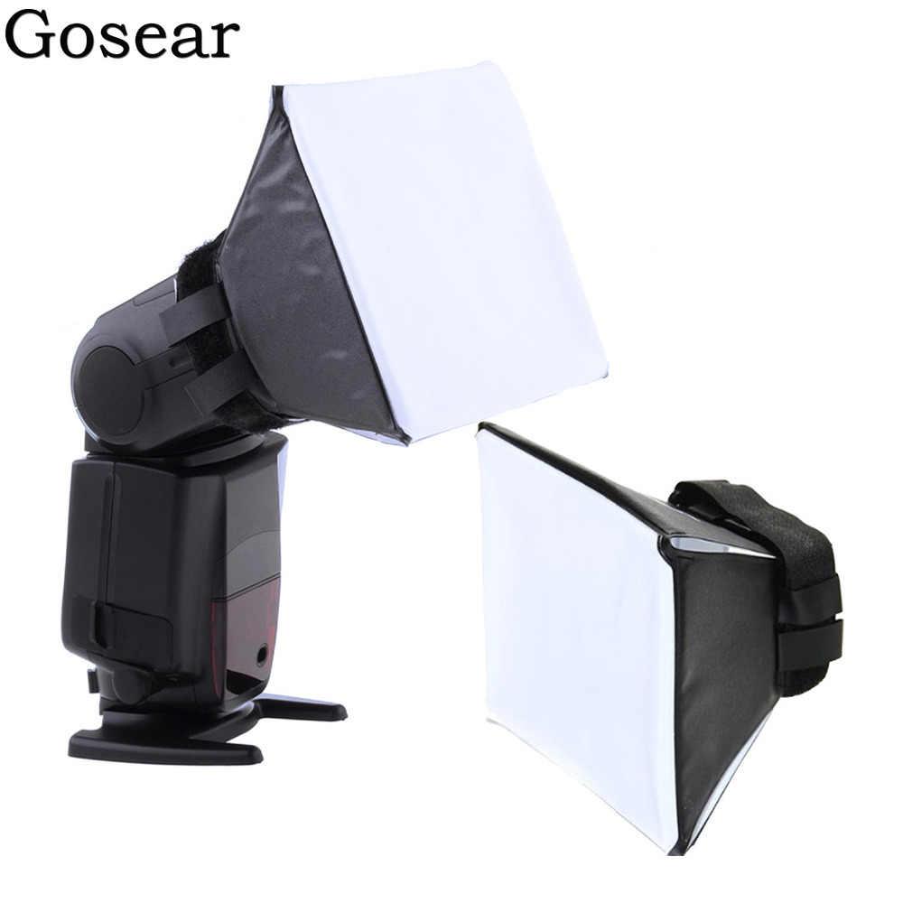 Gosear universel Photo Flash diffuseur de lumière diffuseur boîte souple Difusor Flash pour Canon Nikon Sony caméra Flash Softbox