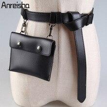 Luggage Bags - Waist Packs - Anreisha Women Fashion Waist Soft PU Leather Belt Bag For Women Female Newest Girl Daily Waist Pack Coin Purse Flap Fanny Bag