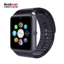 Smart Uhr GT08 Uhr Sync Notifier Unterstützung SIM-Karte 0,3 MT Kamera Bluetooth für Apple iPhone Android Telefon Smartwatch Uhr