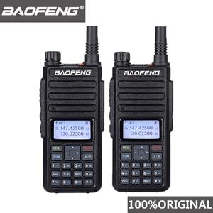 Image 1 - 2個baofeng DM 1801 oreilletteトランシーバーデュアル時間スロットVHF136 174MHz uhf 400 470mhzアナログdmrラジオdm 1801ラジオ局