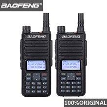 2 pces baofeng DM 1801 oreillette walkie talkie duplo tempo slot VHF136 174MHz uhf 400 470mhz rádio analógico dmr dm 1801 estação de rádio