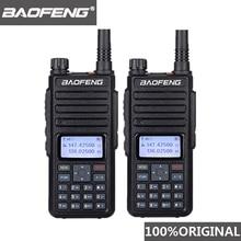 2pcs Baofeng DM 1801 Oreillette 워키 토키 듀얼 타임 슬롯 VHF136 174MHz UHF 400 470MHz 아날로그 DMR 라디오 DM 1801 라디오 방송국