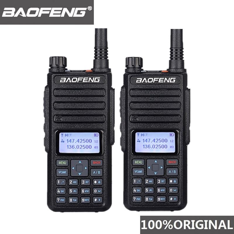 2pcs Baofeng DM 1801 Oreillette Walkie Talkie Dual Time Slot VHF136 174MHz UHF 400 470MHz Analog DMR Radio DM 1801 Radio Station-in Walkie Talkie from Cellphones & Telecommunications