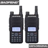 מכשיר הקשר 2pcs Baofeng DM-1801 Oreillette מכשיר הקשר Dual זמן חריץ VHF136-174MHz UHF 400-470MHz אנלוגי DMR רדיו DM 1801 תחנת רדיו (1)