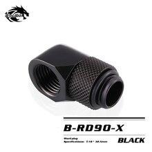 BYKSKI G1/4 90 Grad Dreh Montage/Messing zubehör von wasser kühlung Adapter B RD90