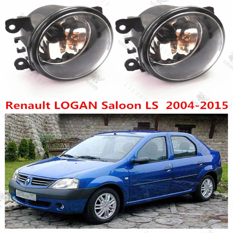 For renault Logan  2004-2015  Saloon Estate  Front bumper fog lamps  Original  Fog Lights Halogen car styling  35500-63J02 for dacia logan saloon ls