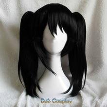 Аниме LoveLive! Love Live Нико язава Нико короткие черные конский хвост термостойкие волосы косплей костюм парик+ бант шпильки