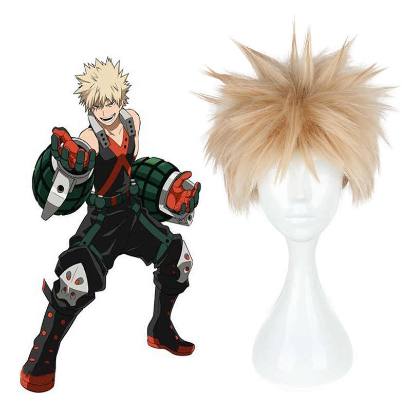 Anime Boku No Hero Academia Bakugou Katsuki Wig Cosplay Costume My
