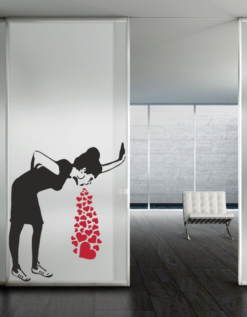 Nice Wall Art Love Sick By Banksy Vinyl Wall Decal Alternative Wall Art Stickers  For Bedroom Livingroom