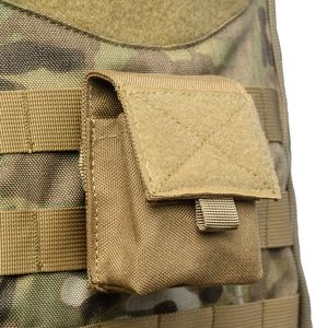 Image 1 - Outdoor Airsoft Combat Military Molle Pouch Tactical Single Pistol Magazine Pouch Flashlight Sheath Airsoft Hunting Camo Bags