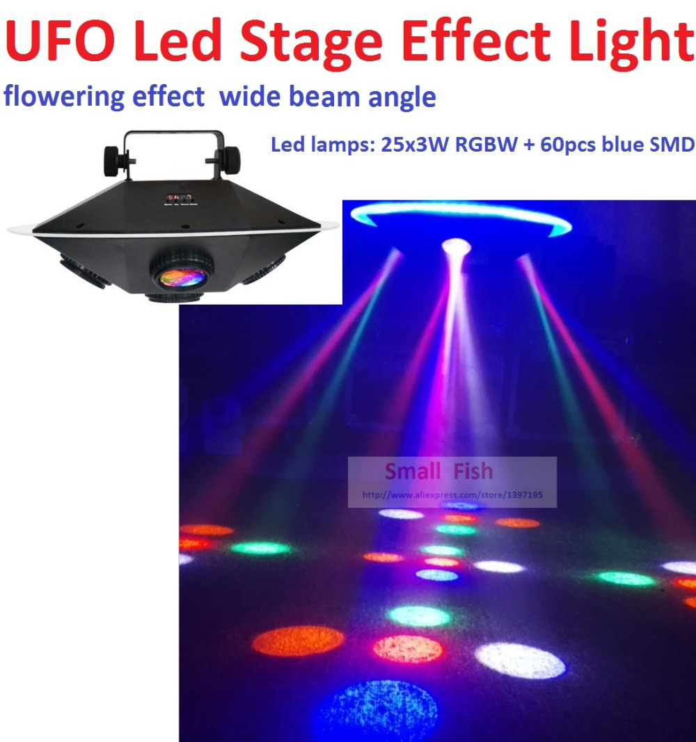 New 2019 UFO Led Stage Effect Light 94W RGBWY Colors With 3 DMX Chs IEC In/Out Powercon Led Spider Moving Head DJ Disco Lights