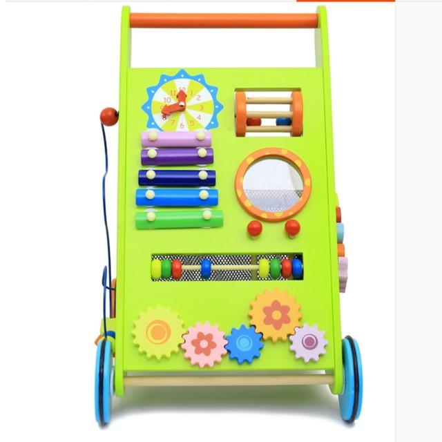 Tire del coche andador de madera Multifunción aprendizaje temprano educación de juguete caminar regalo de buena calidad para los niños
