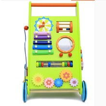pull car wooden baby walker Multifunction early education learning walking toy good quality gift for kids