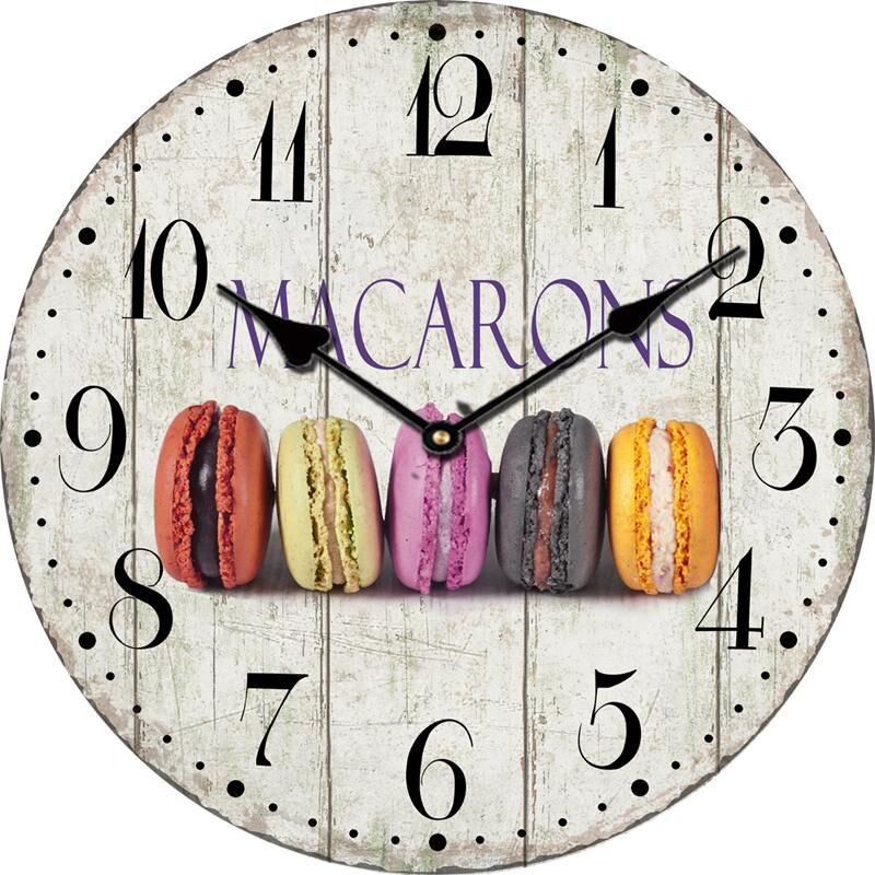 vintage legno orologio da parete orologio da parete design moderno grande cucina decorativa cafe home decor