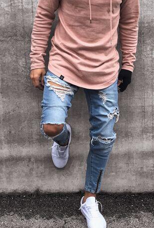 Ripped Trousers BULUOLANDI Mens 4