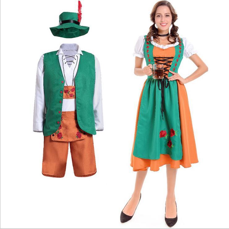 2017 Oktoberfest cerveza Festival octubre dirndl sexy Maid Lencería  delantal vestido blusa vestido alemán wench traje adulto del vestido de  lujo en de en . bde8b5f93d7