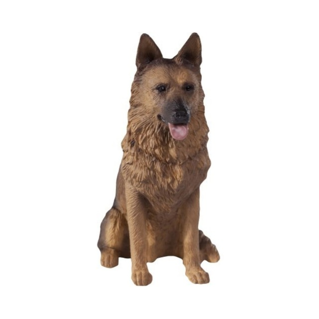 Mini Artificial Black German Shepherd Resin Dog Home Decor Craft ...