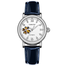 Carotif Fashion automatic mechanical watches women steel