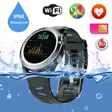 Slimy IP68 swimming 3G Smart Watch Phone 1.39 inch 400*400 Android OS Support SIM Card Bluetooth WIFI GPS Heart Rate Smartwatch(China)
