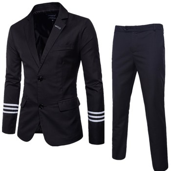 Business casual suit two piece best man wedding blazers Dropshipping hot sale long sleeves top coat high-grade fashion suit
