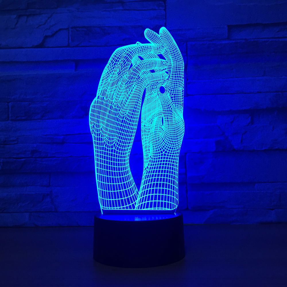 Love Two Hands Beautiful 3D Lamp LED Night Light USB Touch Table Lamp Decoration Party Holiday Indoor Lighting Figure Lamp