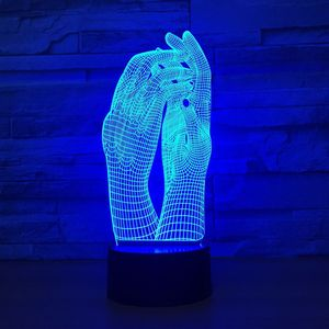 Image 4 - Love Two Hands Beautiful 3D Lamp LED Night Light USB Touch Table Lamp Decoration Party Holiday Indoor Lighting Figure Lamp