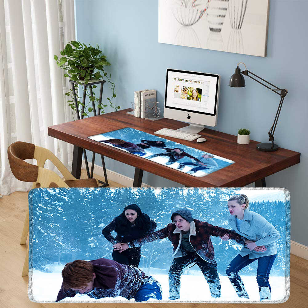 YIMAOC 30*70 cm Large Mouse Pad Gamer Mousepad Rubber Gaming Desk Mat with Locking Edge Riverdale South