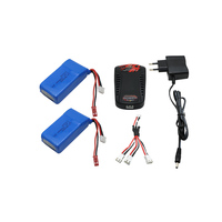 2pcs Lipo Battery 2s 7 4V 1500mah 30C EU Charger For Quadcopters Helicopters RC Cars Boats