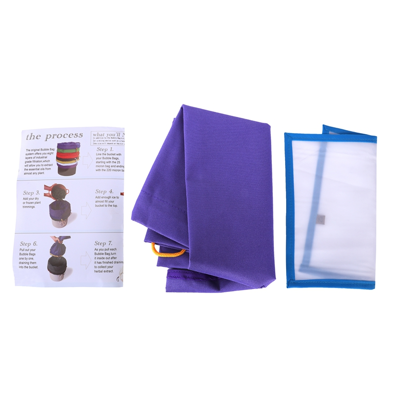 Pro Essence Extractor Kit Herbal Ice Bubble Hash 5-Gallon Bag With Pressing Screen(hash Bag+Pressing Screen)