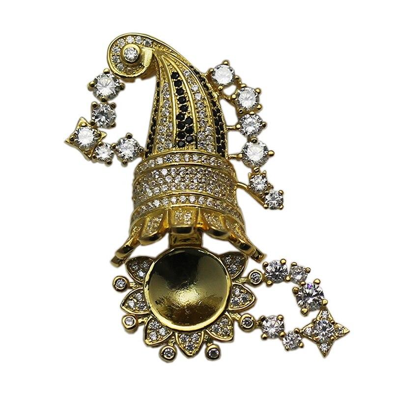 Beadsnice 925 collier en argent Sterling fermoir réglage CZ Pave grande boîte fermoir bijoux résultats fournitures bricolage cadeau ID35288