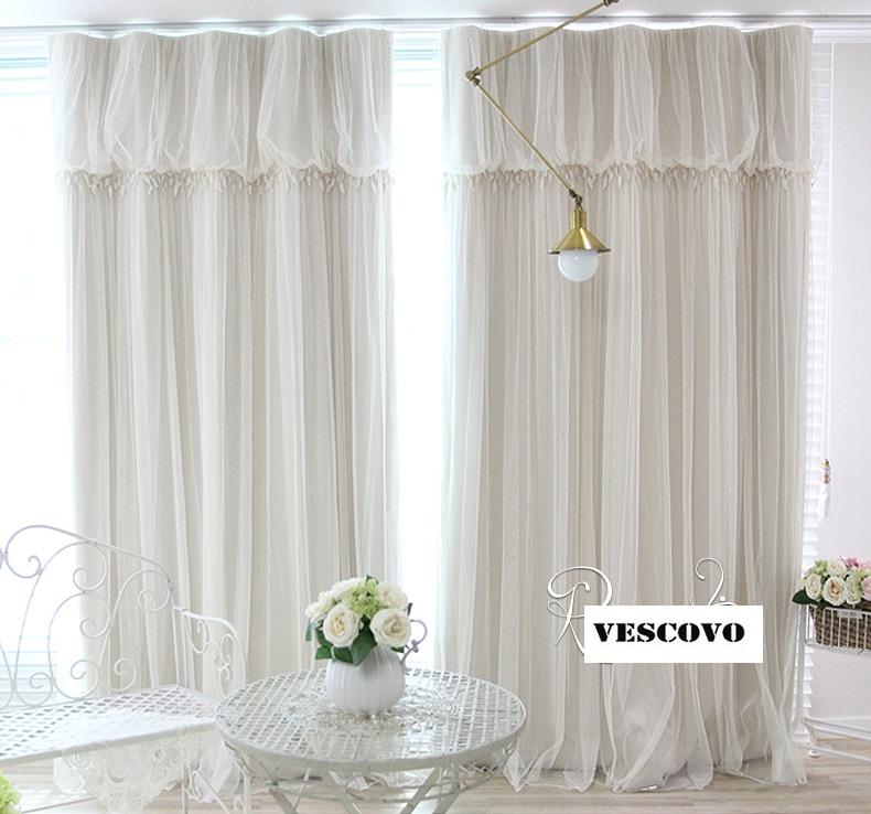 de encaje blanco de lujo cortina escarpada girls romntica princesa dormitorio cortina de la ventana de