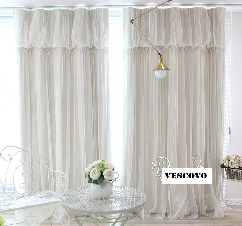 White Lace Fancy Sheer Curtain Romantic Girls Princess