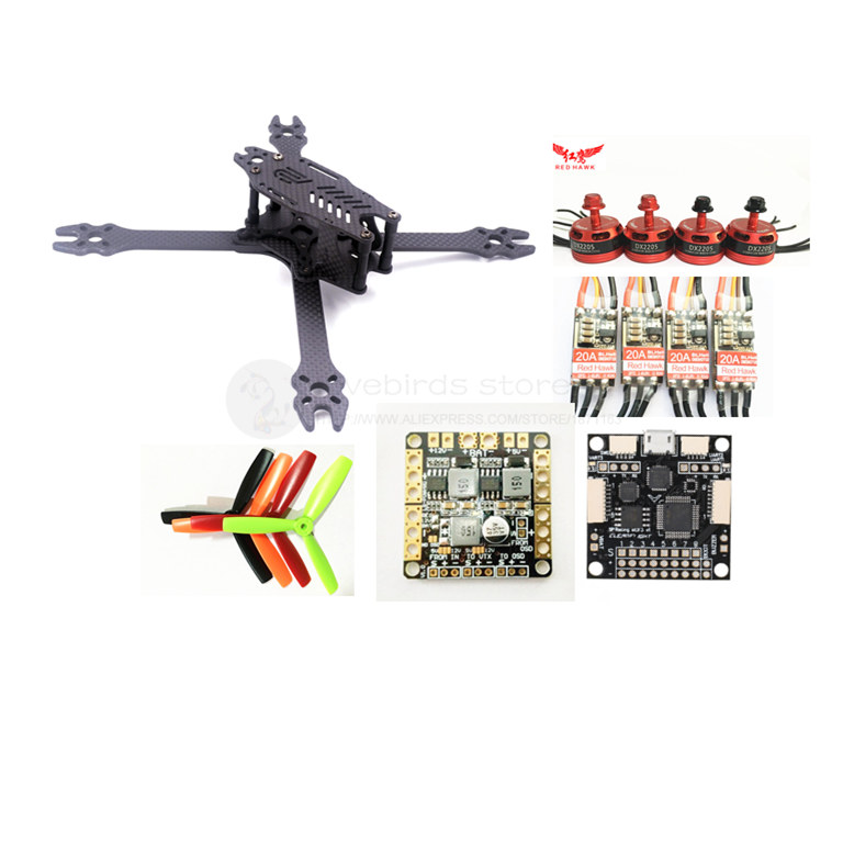 DIY FPV mini drone F2 mito 210mm pure carbon frame kit F3 ACRO + Red hawk DX2205 2300KV + Red Hawk BL20A ESC OPTO yobang security wifi automation gsm alarm system home intelligent gsm gprs sms wifi security kits wifi camera red solar siren