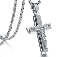 Double Scrub Christ Jesus Necklace Titanium Steel Cross Pendant jesus jewelry jesus christianity graves kersey the world s sixteen crucified saviors or christianity before christ