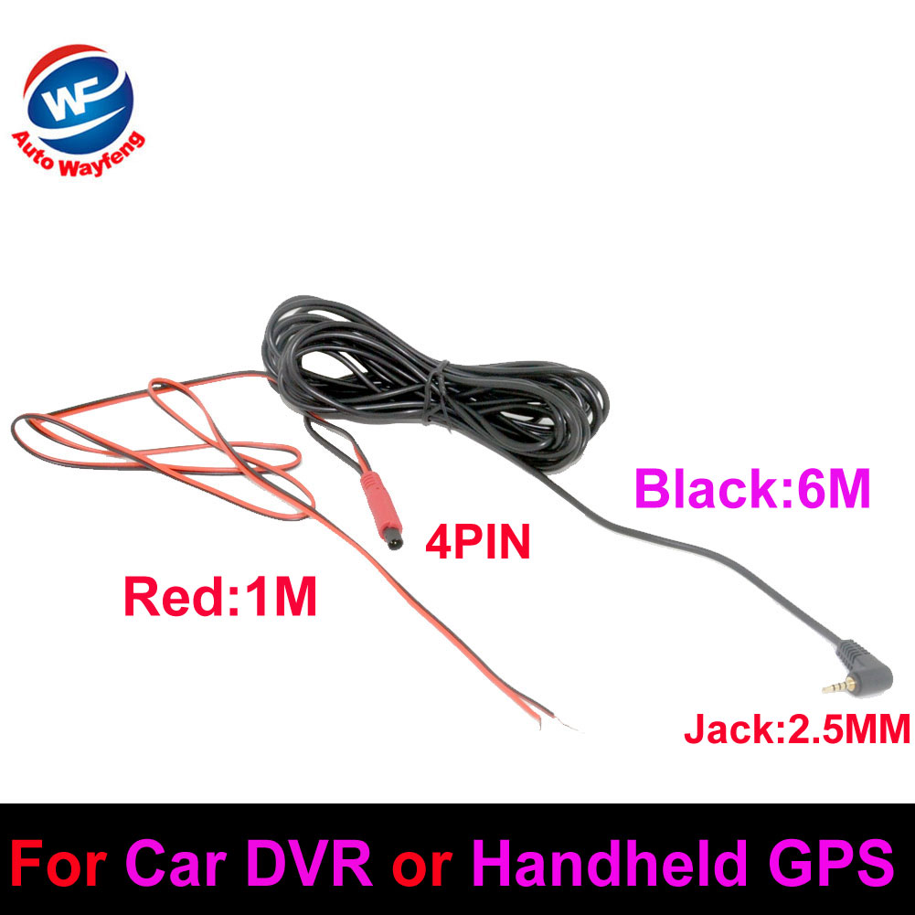 Hot Selling Car rearview Rear View Camera Cable line 4PIN TO 2.5MM For Car DVR or Handheld GPS