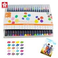 Акварельная кисть LifeMaster Sakura Akashiya  20 цветов/набор  нейлоновая мягкая каллиграфическая кисть  ручка  принадлежности для живописи