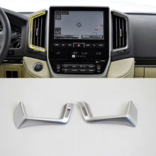 Car Accessories Interior Decoration ABS Front Middle Air Vent Outlet Cover Trims For Toyota Land Cruiser 2016 Car Styling цены