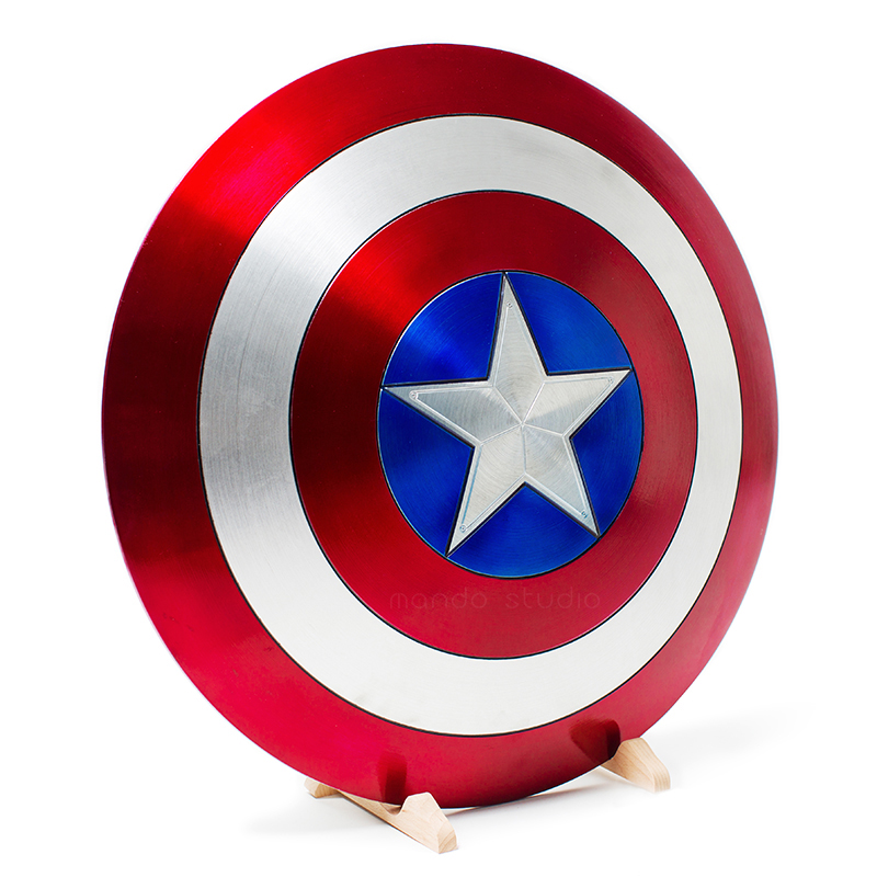 Avengers Infinity War 1:1 Captain America Metal SHIELD Civil War 1:1 Captain America Shield Metal Colors Cosplay Captain America