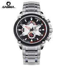 Fashion Brand CASIMA Watches Men Stopwatch Date Display Clock Luxury Elegant Table Calendar Steel Strap Mens Quartz Wristwatch