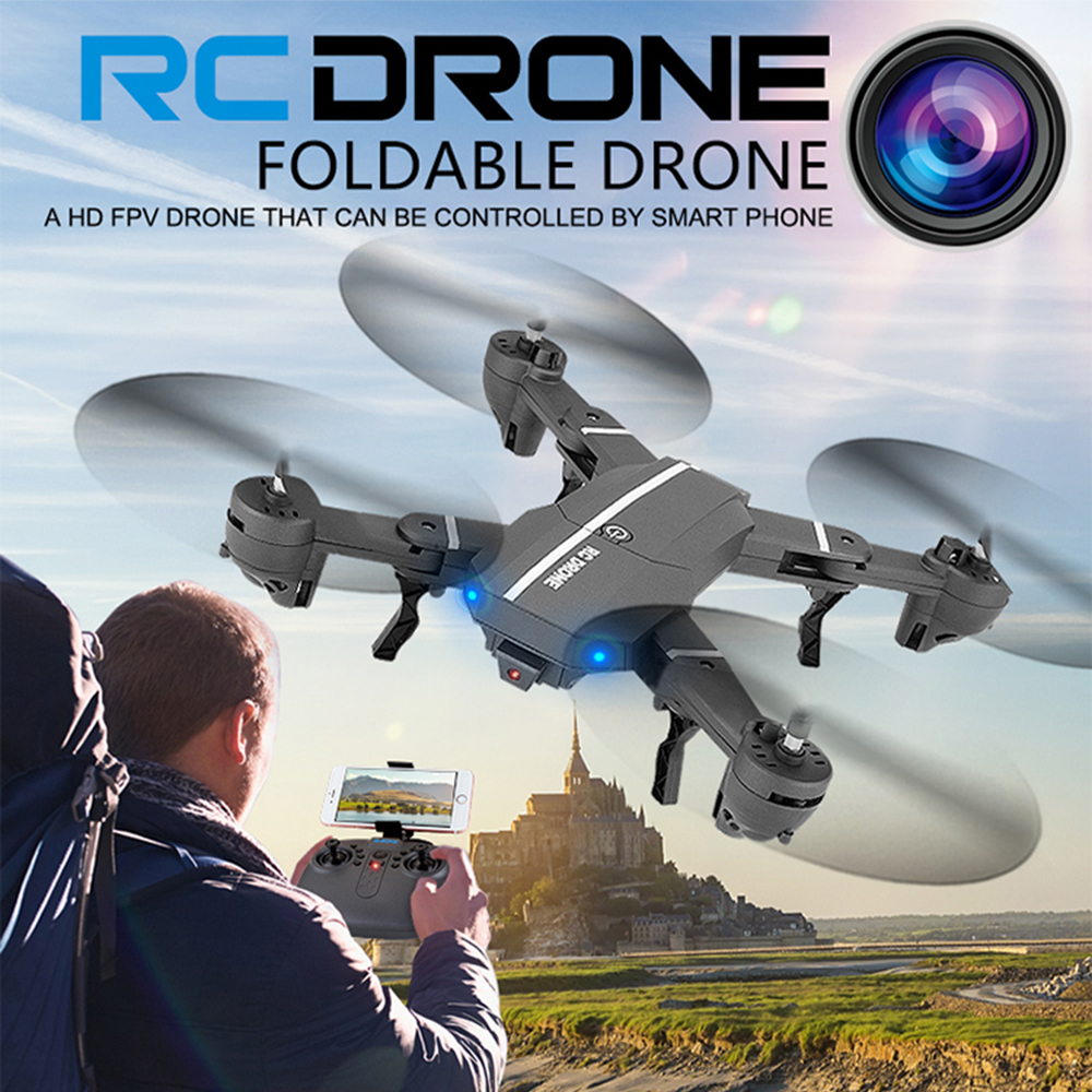 RC Drone Foldable/aircraft/helicopter FPV Wifi RC Quadcopter 2.4GHz Remote Control Dron with HD Camera VS visuo  Xs809w Xs809hw global drone rc selfie drones with camera hd wifi fpv quadcopter 8807 foldable drone with camera vs h37 jy018 xs809hw
