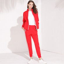 Autumn womens casual pantsuits Fashion sweatshirts+casual pants two piece set leisure suit D967