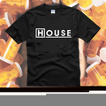 new 2017 free shipping fashion DR HOUSE PRINT LETTERS couple clothes summer men man male short-sleeve  T-shirt
