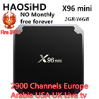 X96 mini android tv box 7.1 NO Monthly iptv italia Europe USA UK Germany LIve android tv Set top box 2GB/16GB X96mini