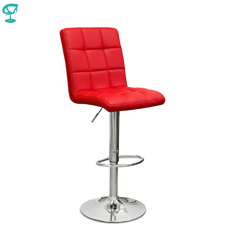 94565 Barneo N-48 Leather Kitchen Breakfast Bar Stool Swivel Bar Chair Red Color Free Shipping In Russia