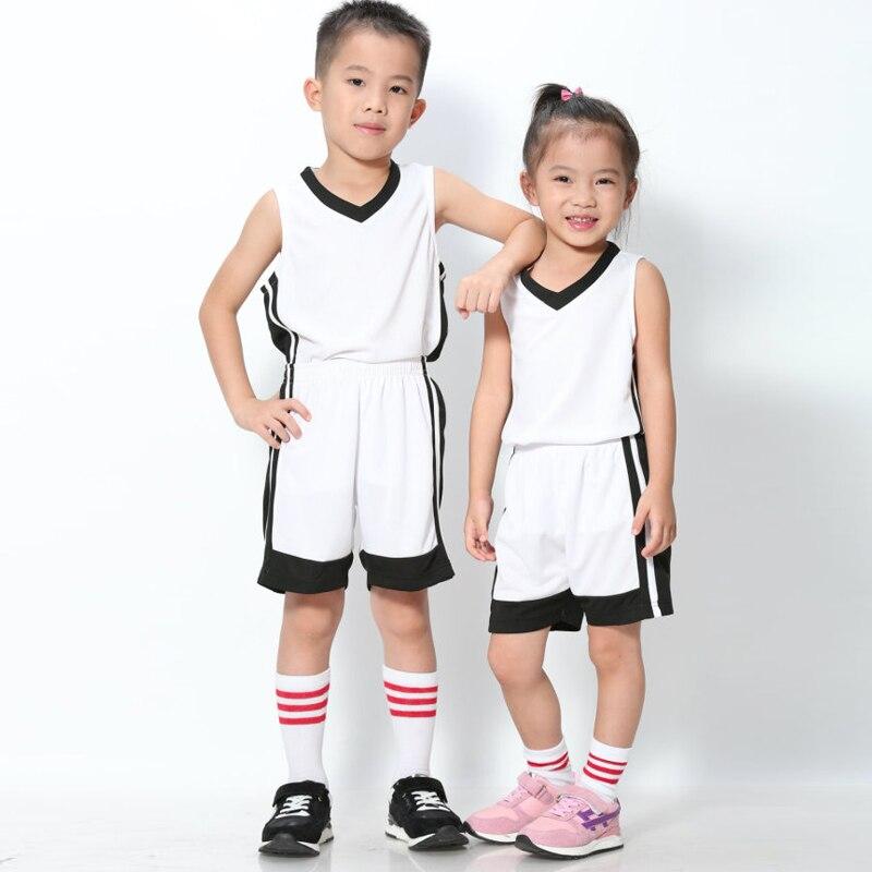 בנים/ילד מותאם אישית גופיות כדורסל ילדים ערכות מדים סטים בגדי ספורט לנשימה מכנסי חולצות ספורט ריצת ג 'רזי נוער