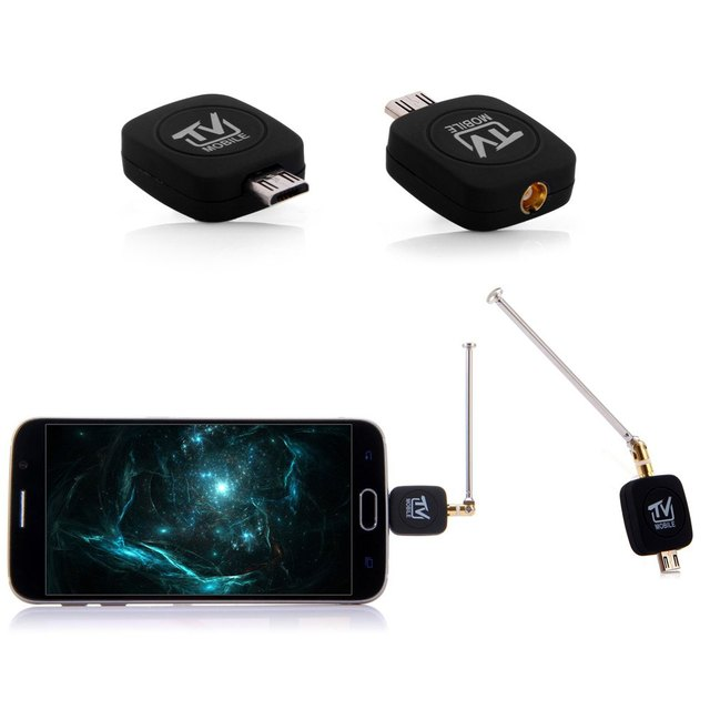 Original Micro USB DVB - T TV Tuner Receiver Stick with DVB-T TV fuction for Android Smartphone Tablet PC Cell  Mobile Phone