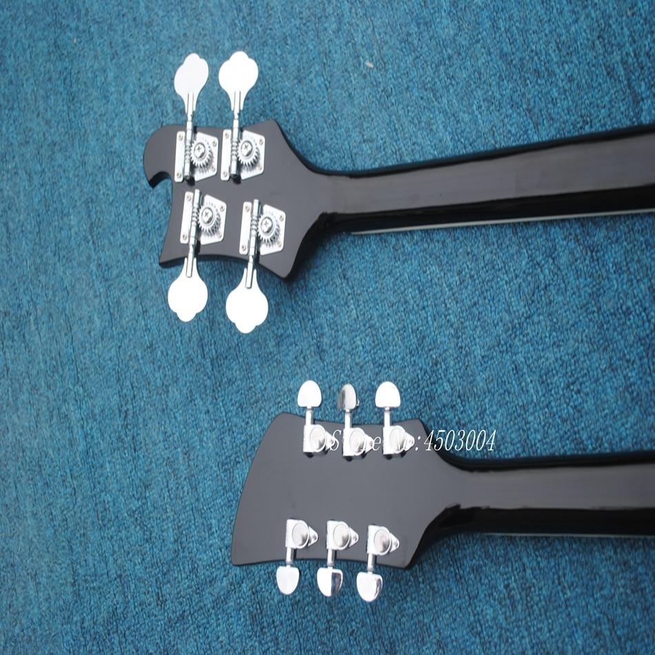 Offre spéciale Top qualité nouveauté RICK Double cou 4 cordes basse + 6 cordes guitare électrique noire livraison gratuite - 6