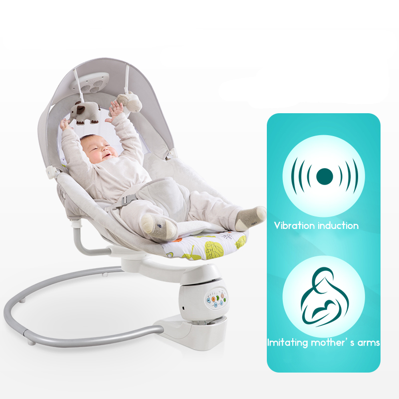 Baby rocking chair child electric cradle baby crib recliner chair with shaking sound baby artifact sleepy Innrech Market.com