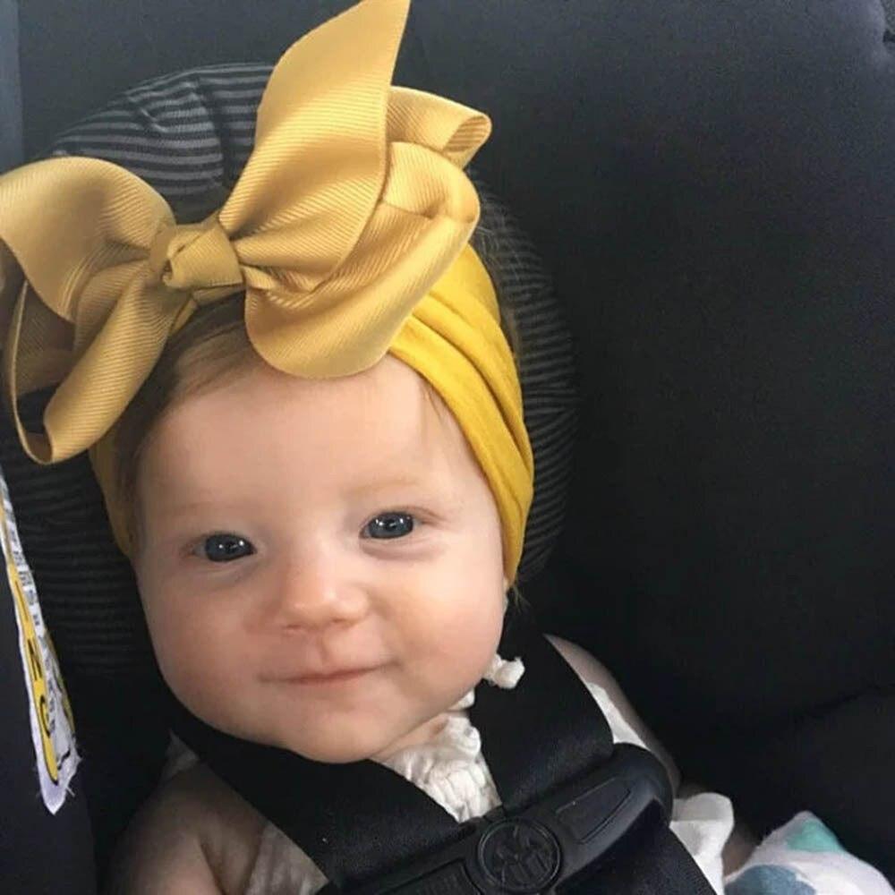 Baby Nylon Headband , Baby Girl Bow Headband, 5