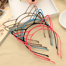 New Fashion 4Colors Hair Accessories Cute Cat Ear Hair Band Small Cat Headband for Women Hello Kitty Styling Tools
